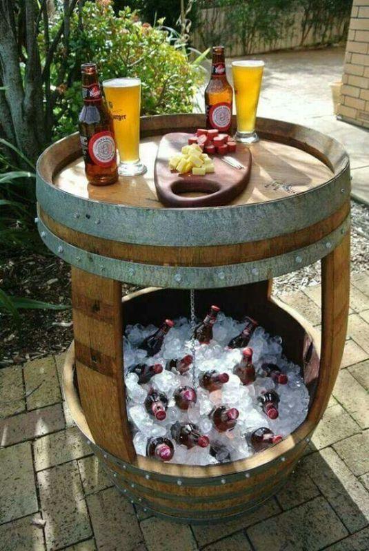 barrel into drink cooler, original source unknown, via Remodelaholic