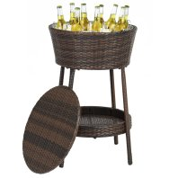 rattan drink stand for patio parties