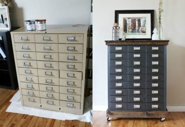 rustic filing cabinet makeover My DIY Envy