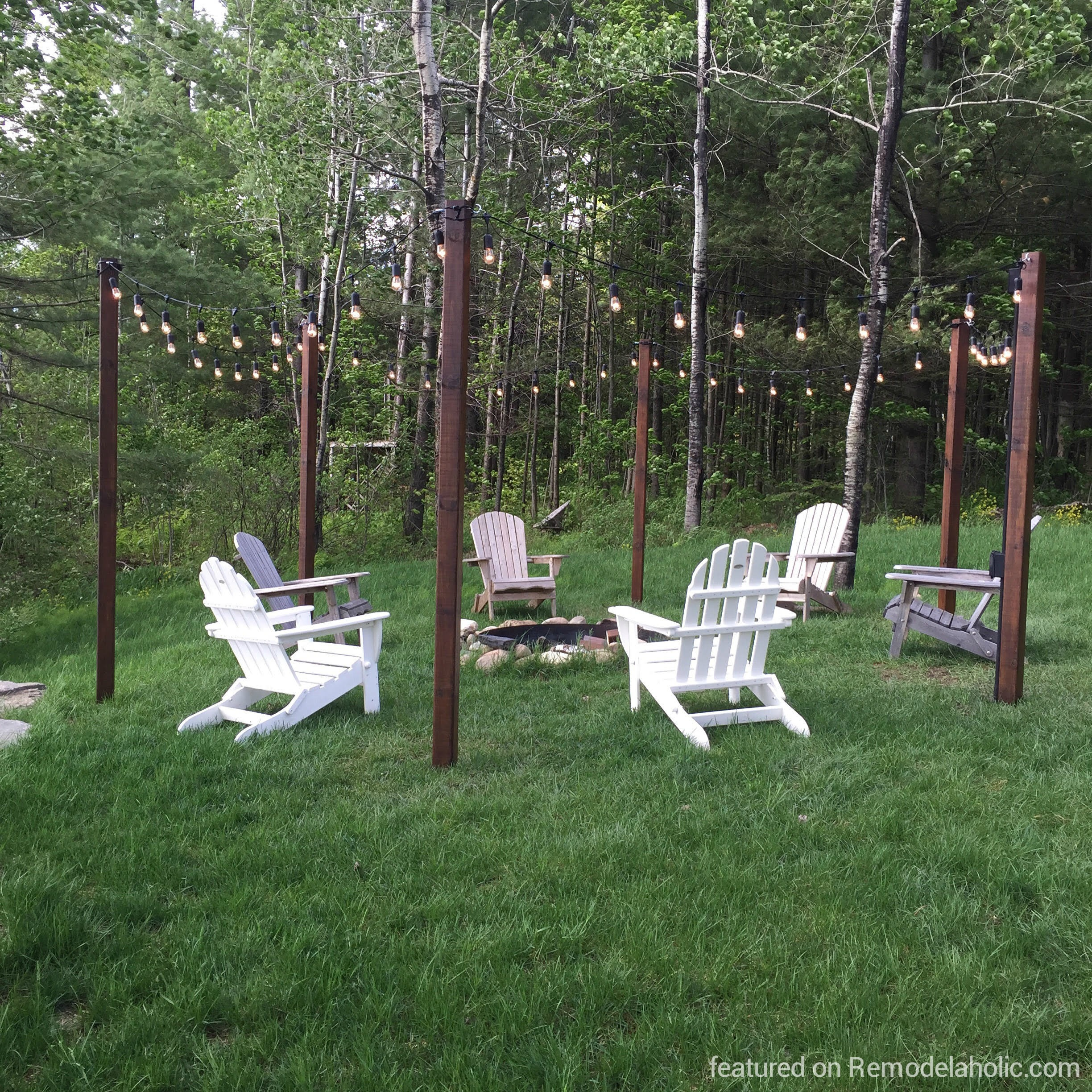 Remodelaholic For Chairs Around Fire Pit, Image Source: Remodelaholic.com