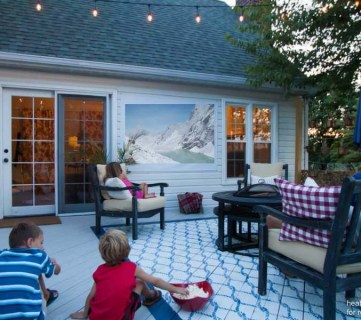 EASY DIY Outdoor Movie Screen