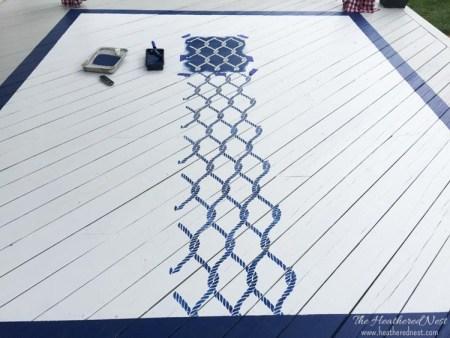 DIY rug tutorial outdoor painted stenciled rug www.heatherednest.com-20