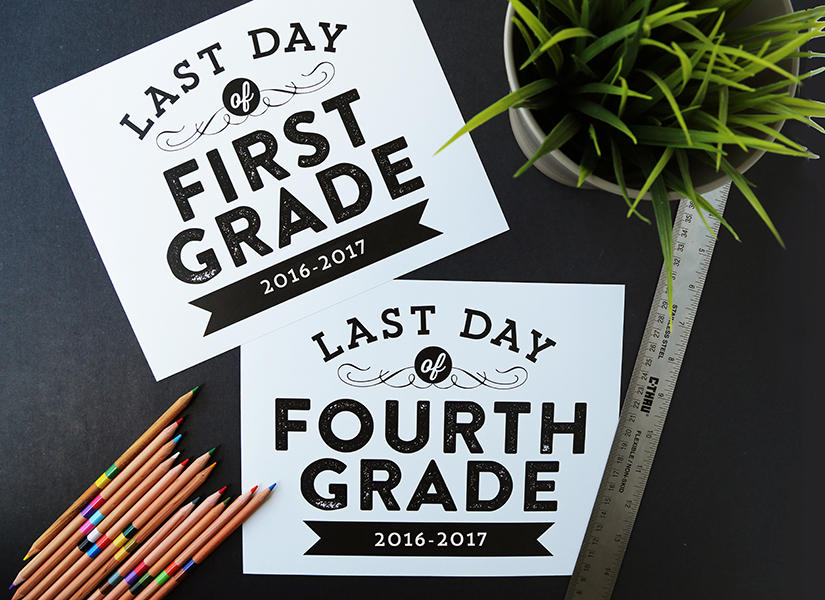 photo relating to Last Day of School Signs Printable identified as Remodelaholic Printable Very last Working day of University Indicators (Up to date