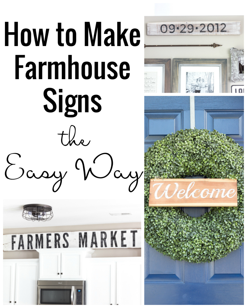 Remodelaholic | How to Make Painted Farmhouse Signs the Easy Way