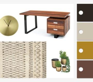 Rustic Modern Home Office Design Inspiration & Tips