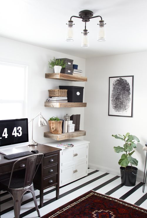 Good Rustic Modern Office Inspiration
