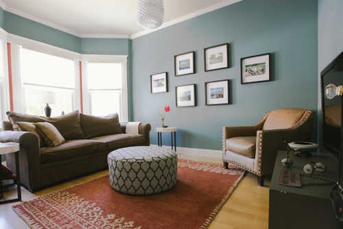 Wall color is Aegean Teal from Benjamin Moore. Color Spotlight on Remodelaholic