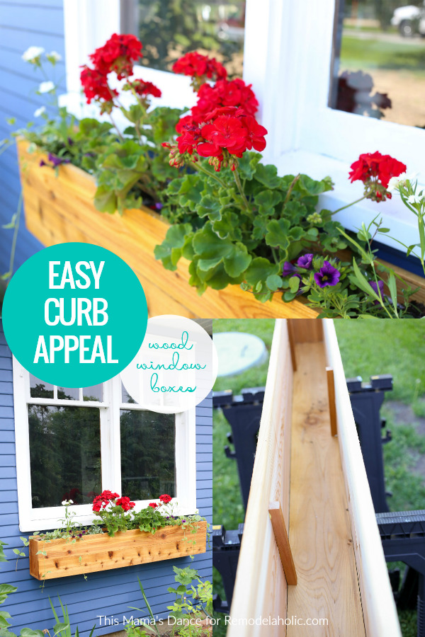 Add Easy Curb Appeal With DIY Wood Window Box Planters, Remodelaholic