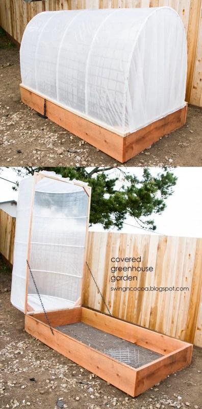 diy covered greenhouse garden, SwingNCocoa