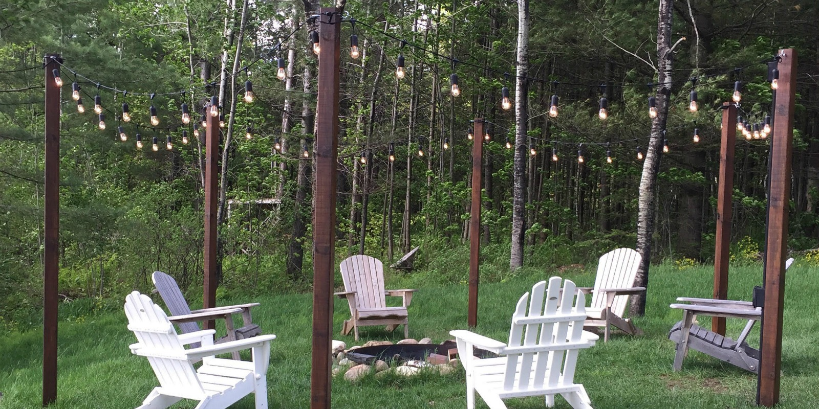 Remodelaholic | Easy DIY Outdoor Lighting Around a Fire Pit on Diy Outdoor Fire  id=53162