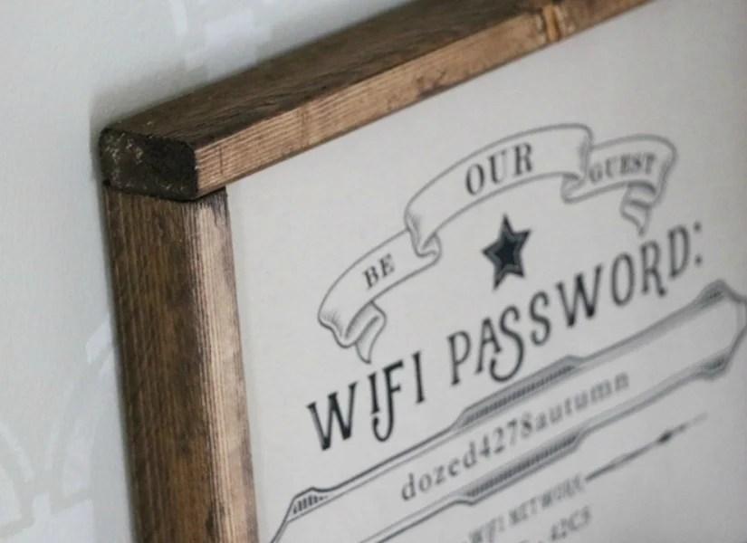 image regarding Free Printable Wifi Password Template known as Remodelaholic Totally free Editable Visitor Wifi Printable