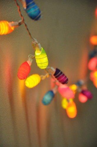 outdoor solar lights, multicolor cocoon