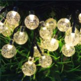 outdoor solar string lights, globe seeded 20 ft