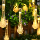outdoor solar string lights, icicle