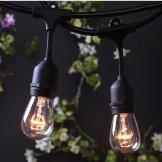 outdoor string lights, globe edison 24ft