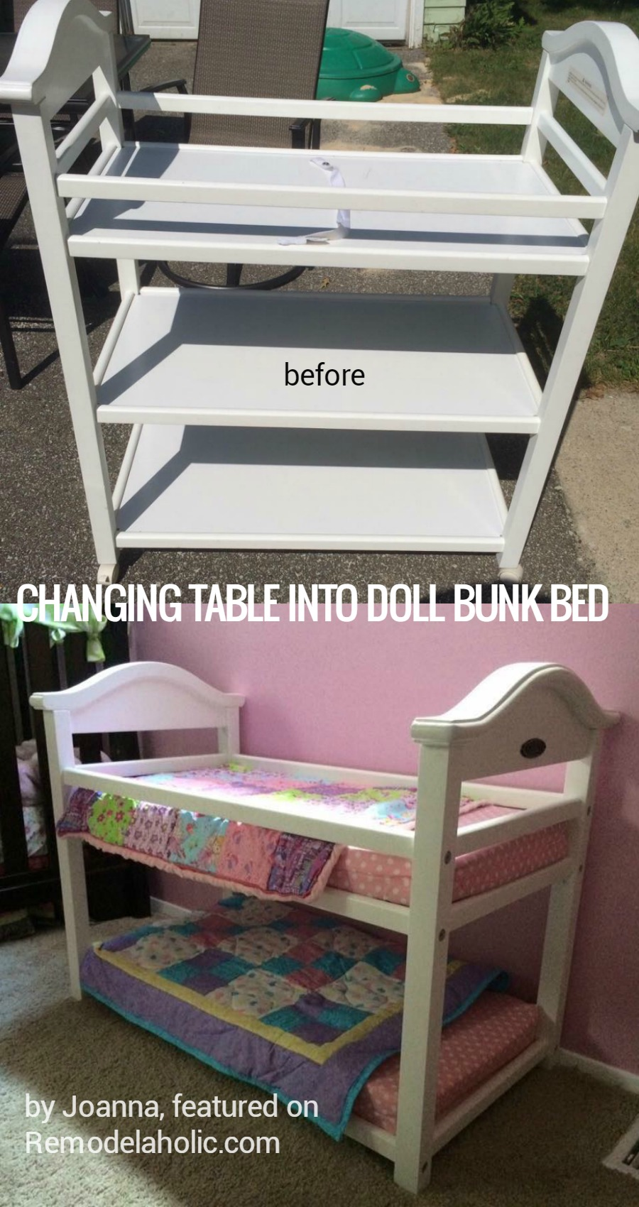 Remodelaholic Friday Favorites Changing Table Upcycle Amp Salvaged Concrete Retaining Wall Steps