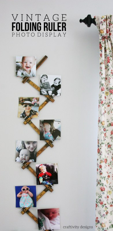 vintage folding ruler photo display, Craftivity Designs