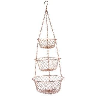 vintage kitchen charm copper hanging fruit baskets