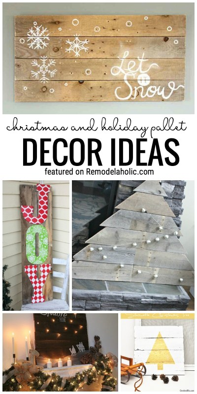 Christmas and Holiday Pallet Decor Ideas @Remodelaholic