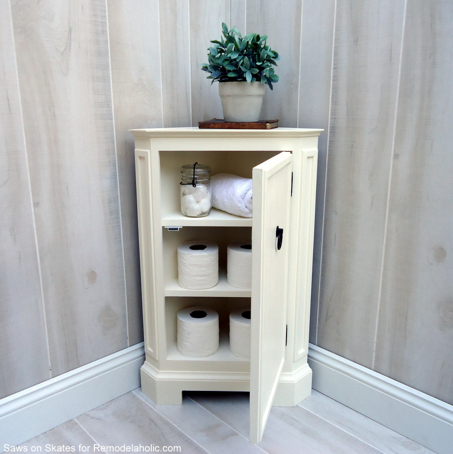 Foyer Corner Cabinet : Remodelaholic how to build a catalog inspired corner cabinet