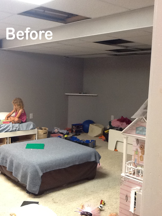 Fabulous Remodelaholic | DIY Beadboard Ceiling To Replace a Basement Drop  NY05