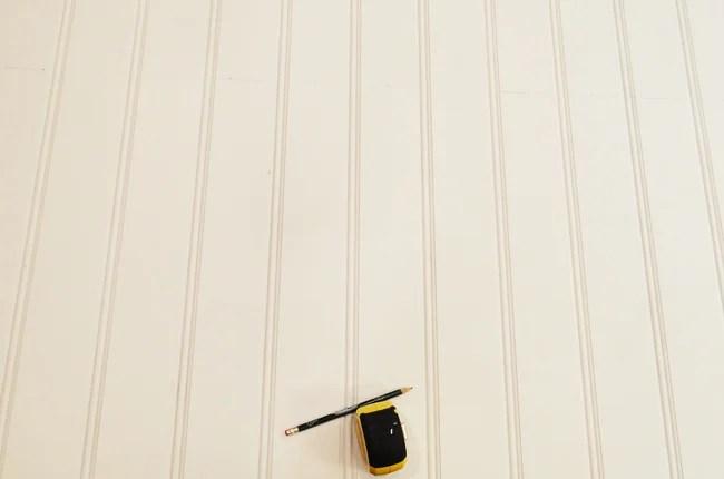 DIY Beadboard Ceiling Measure and Cut
