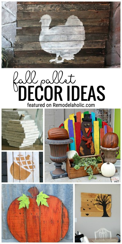 Pallet Decor Ideas for Fall and Halloween @Remodelaholic