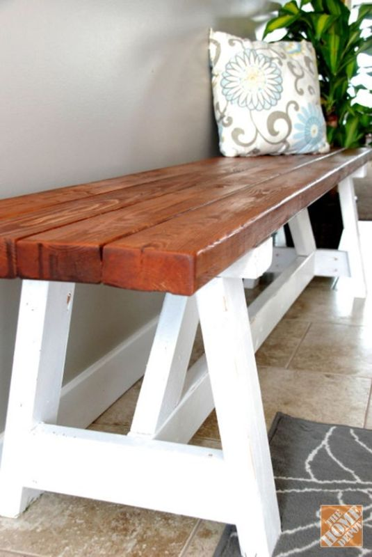 Fixer Upper DIY Farmhouse Bench_The Creative Mom