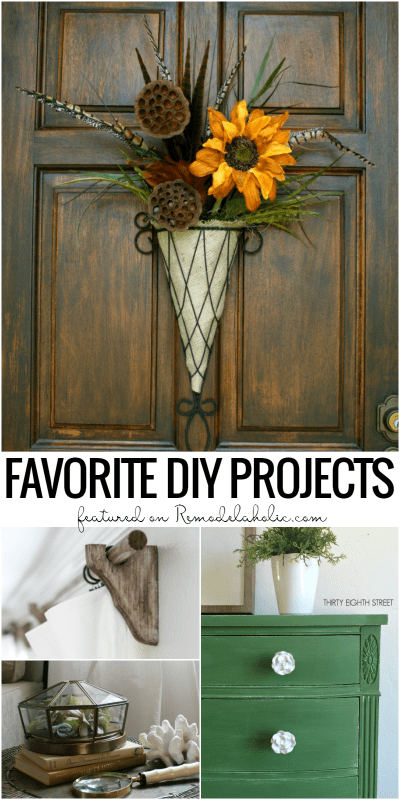 Friday Favorites, fall door decor, diy curtain rods 09-01