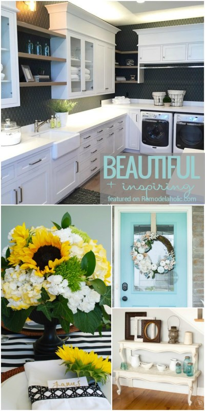 Friday Favorites: Beautiful laundry rooms, non-traditional fall decor and more! Featured at Remodelaholic.com