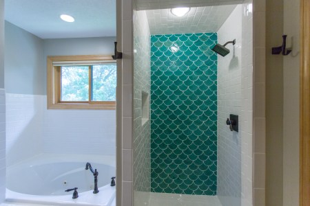 How to Tile Moroccan Fish Scale Tile, construction2style on remodelaholic