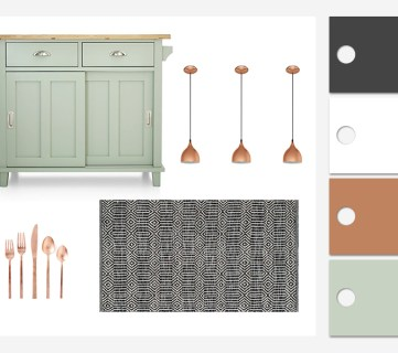 Mint and Copper Kitchen Inspiration
