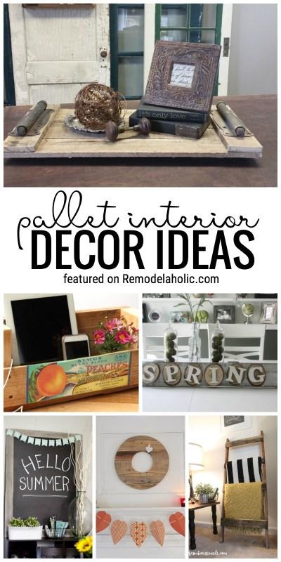 Pallet Decor Ideas @Remodelaholic