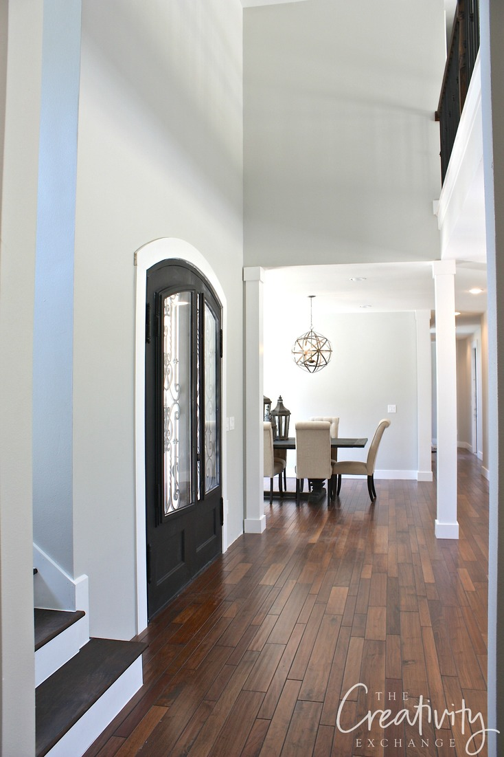 Remodelaholic Choosing A Whole Home Paint Color - Best flooring for entire house