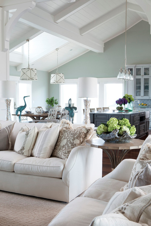 Tips for choosing a whole home paint color   Wall color is Sea Salt by Sherwin Williams.   More paint colors and tips at Remodelaholic.com