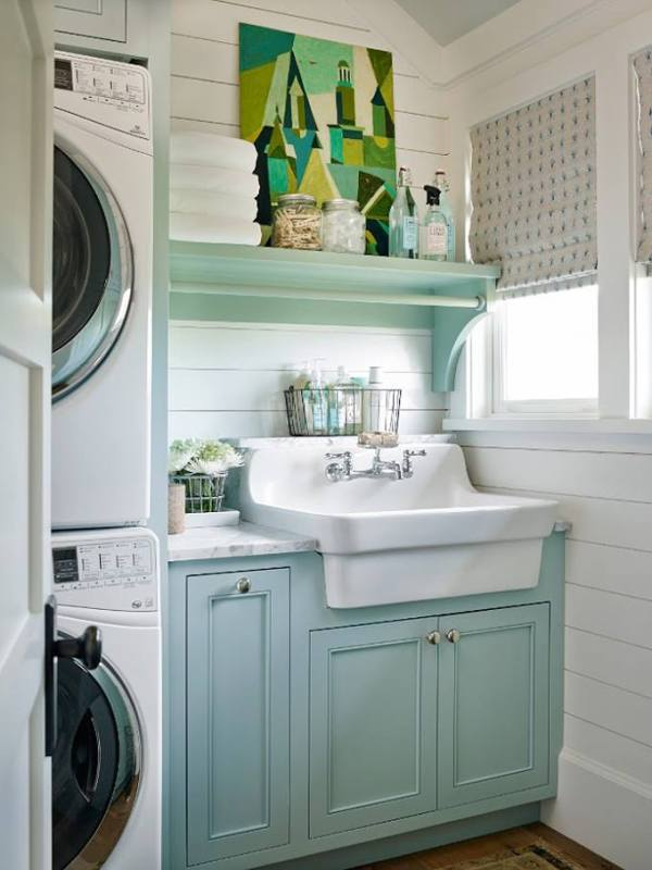 farmhouse-sink-in-a-turquoise-aqua-farmhouse-laundry-room