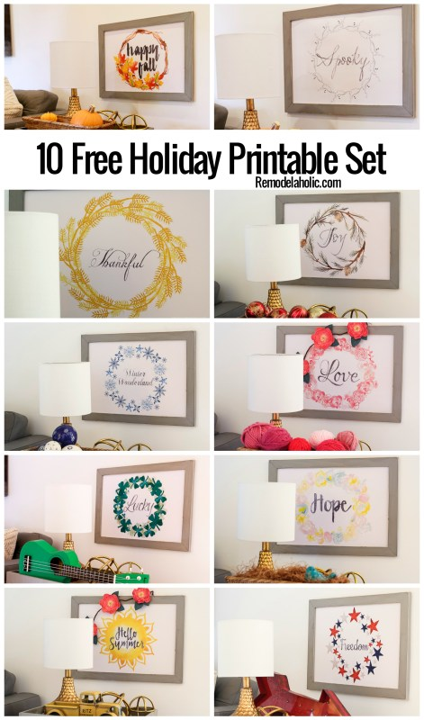 10 Free Holiday Printables Set From @remodelaholic