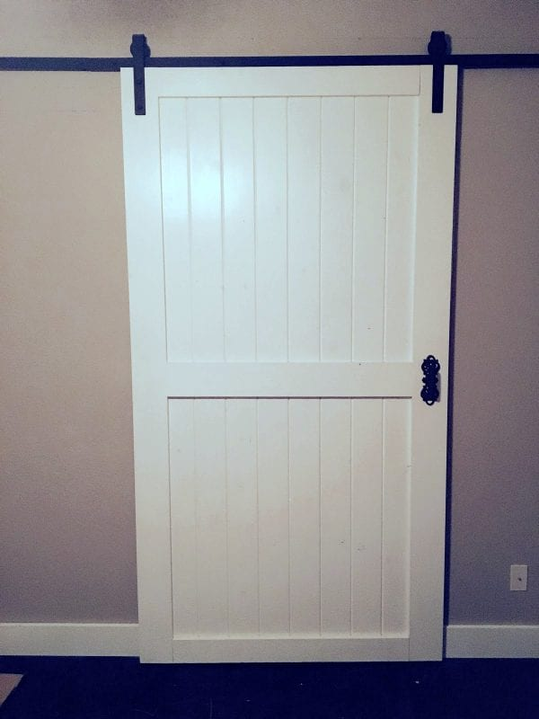 Quick And Easy DIY Project Sliding Barn Door Over Inspired Featured On @Remodelaholic Edit