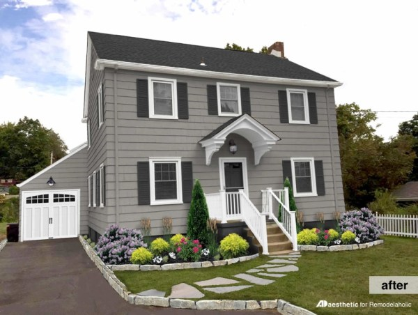After -Modern Colonial Curb Appeal Mockup • AD Aesthetic for Remodelaholic