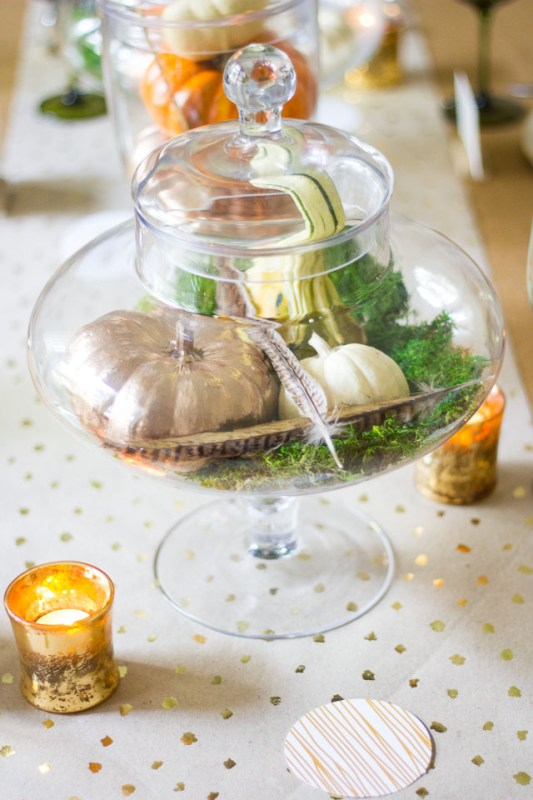 Apothecary Jar Thanksgiving Centerpiece Design Improvised Remodelaholic