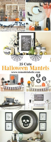 DIY Halloween Decoration Ideas for Mantels and Shelves