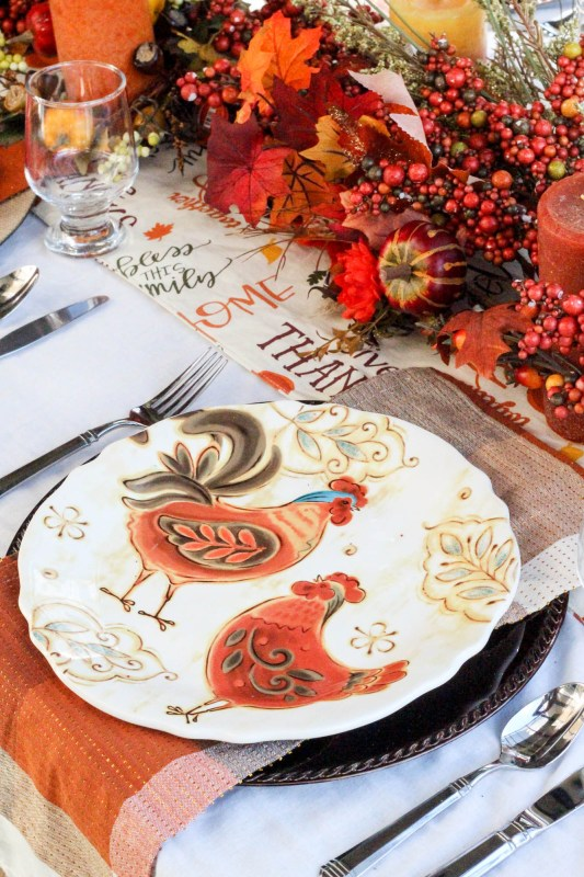 Fall Thanksgiving Tablescape Idea 8