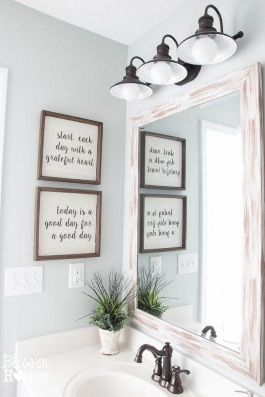 Fixer Upper DIY Typography Sign Blesser House 534x800