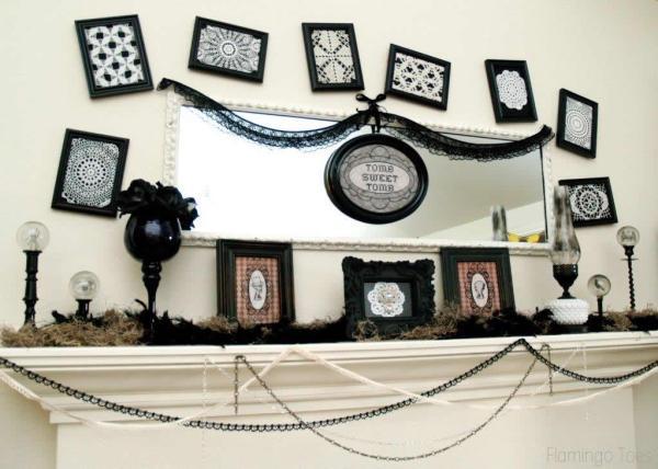 Halloween tomb Mantel