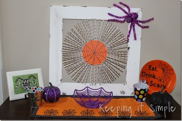 Halloween Paper Straw Wreath