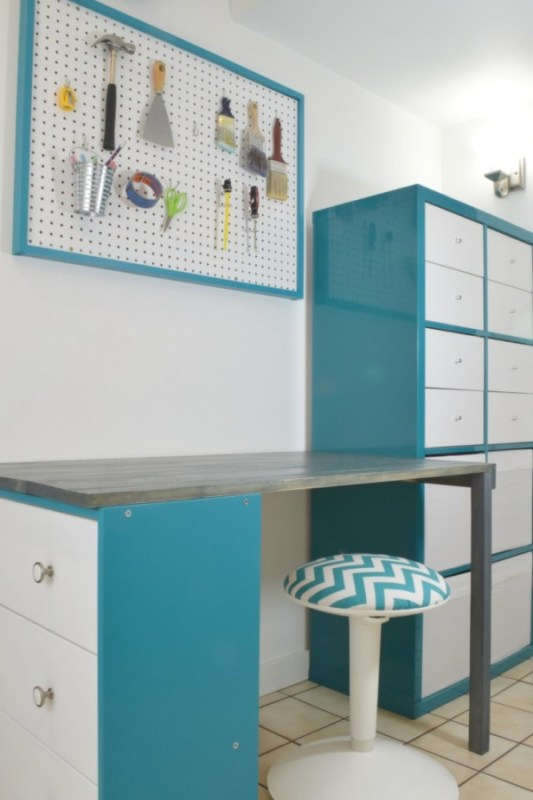 IKEA Rast And Kallax Desk Hack The Handymans Daughter