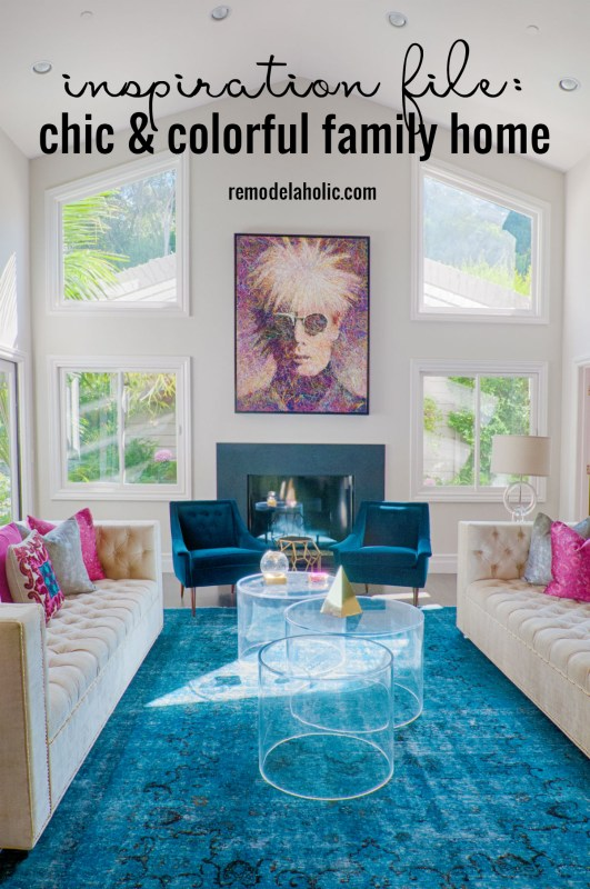 Inspiration File Chic Colorful Family Home Transitional Color Remodelaholic