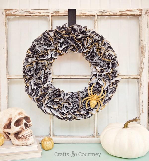 Cupcake Liner Halloween Wreath