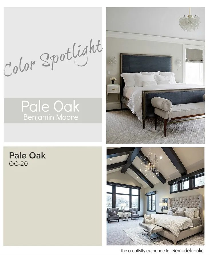 Pale Oak Benjamin Moore is a versatile and stunning neutral. Color Spotlight on Remodelaholic.com