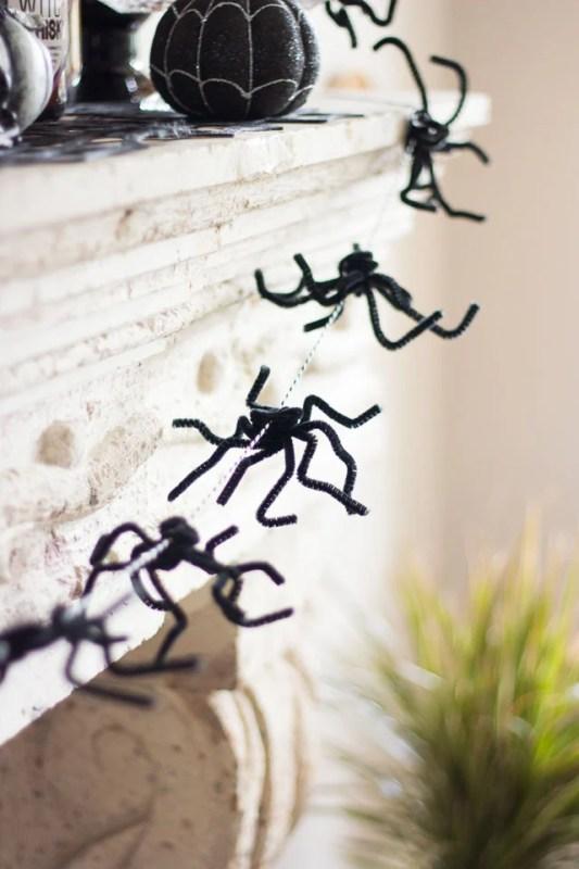 Spider Garland For Halloween Design Improvised